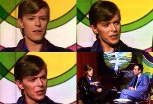 David Bowie interviewed by Yves Mourousi in Paris, 27th June 1977.