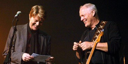 Behind the scenes with David Gilmour…