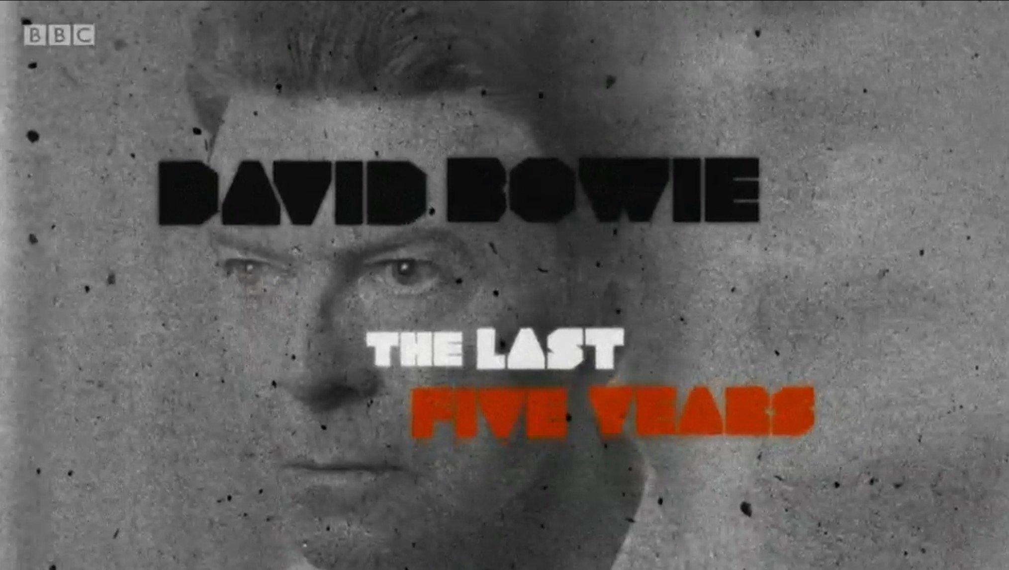 Resultado de imagen de david bowie the last five years