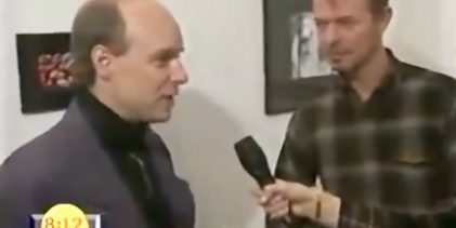 Brian Eno and David Bowie interviewed at Flowers Gallery (1994)